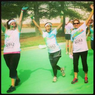 cory - color run green